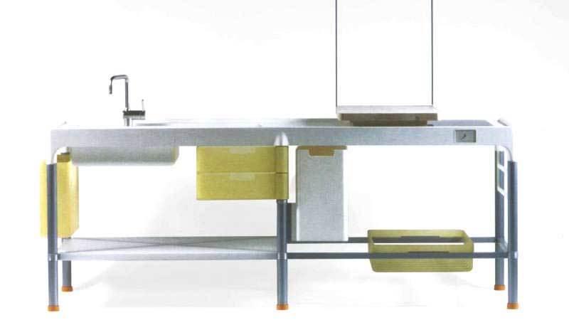 Disintegrated kitchen per Cappellini
