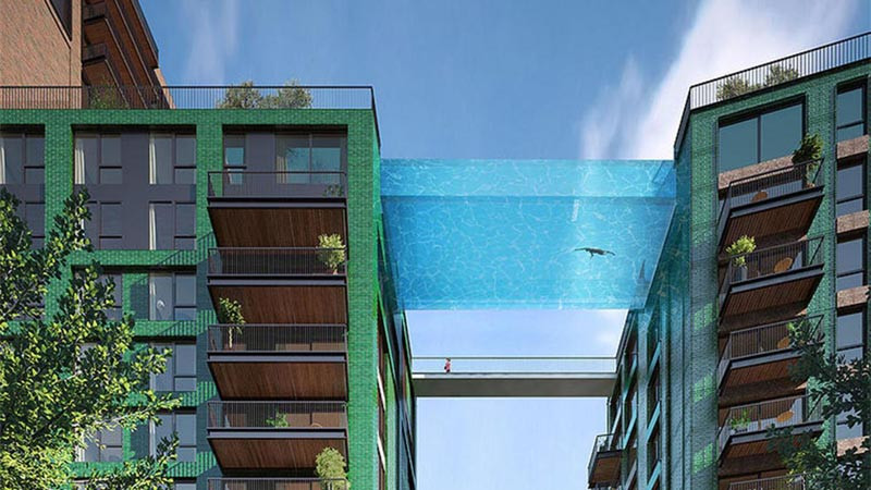 Nine Elms London Infinity pool