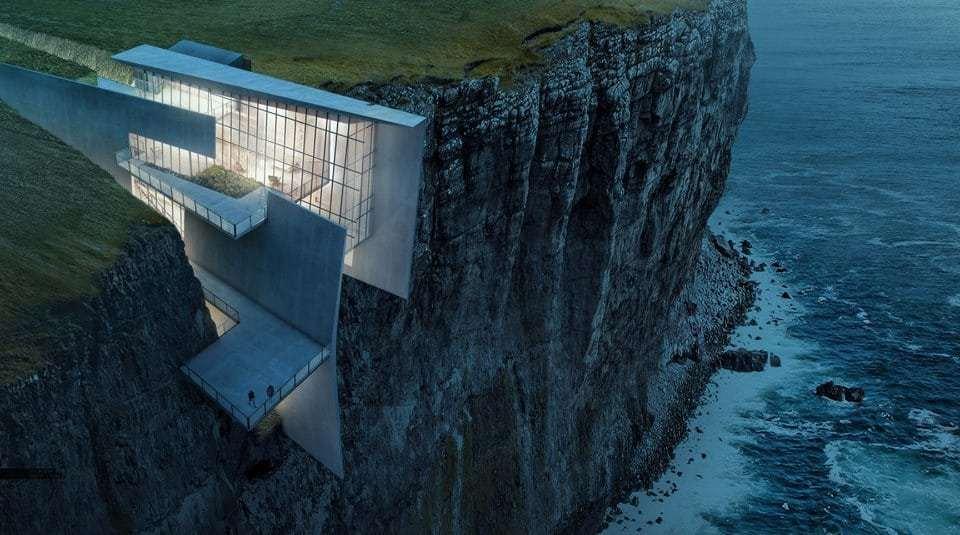 Una casa nella roccia il progetto surreale ideato da hogrefe for Schierandosi dalla roccia in casa