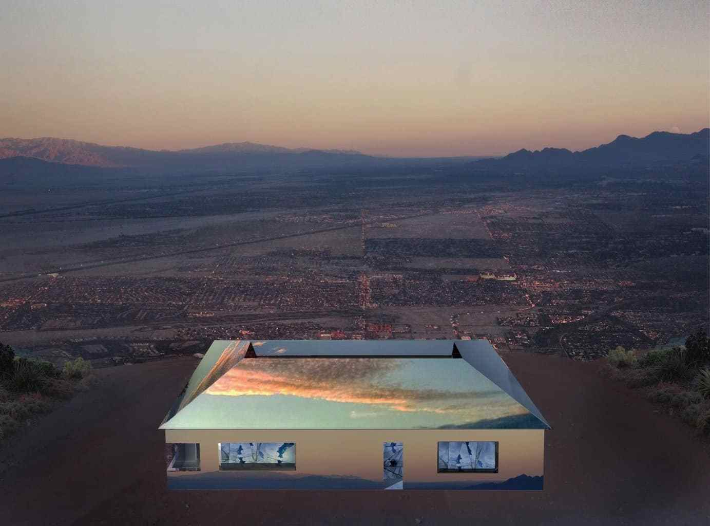 Mirage la casa degli specchi costruita nel deserto - Casa degli specchi ...