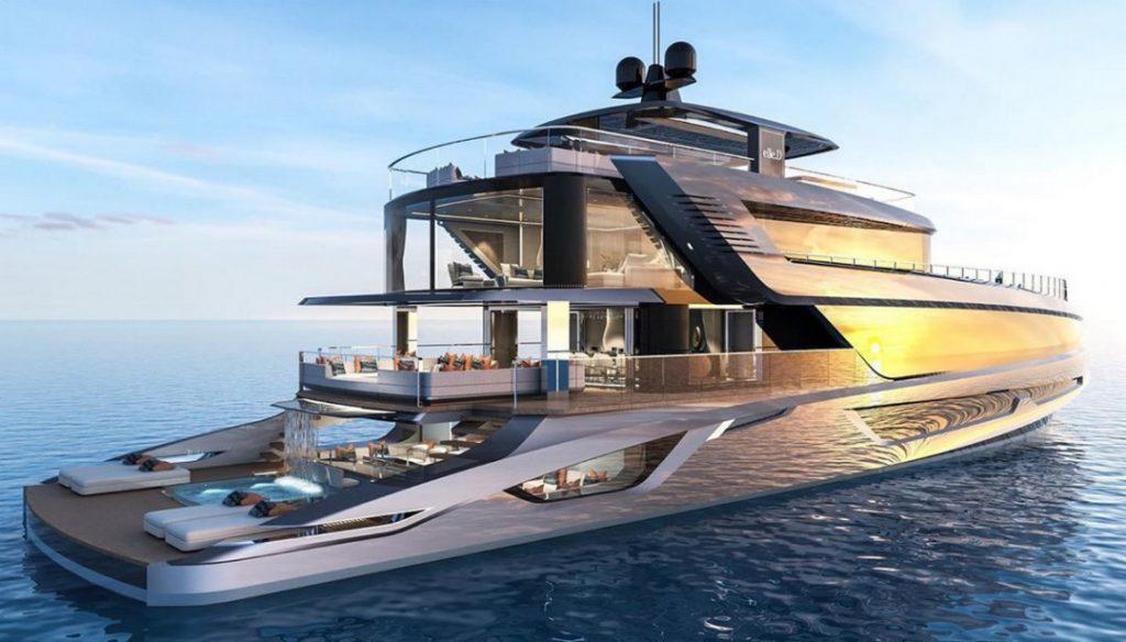 superyacht con cascata italian design institute